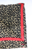 Red Striped Leopard Scarf
