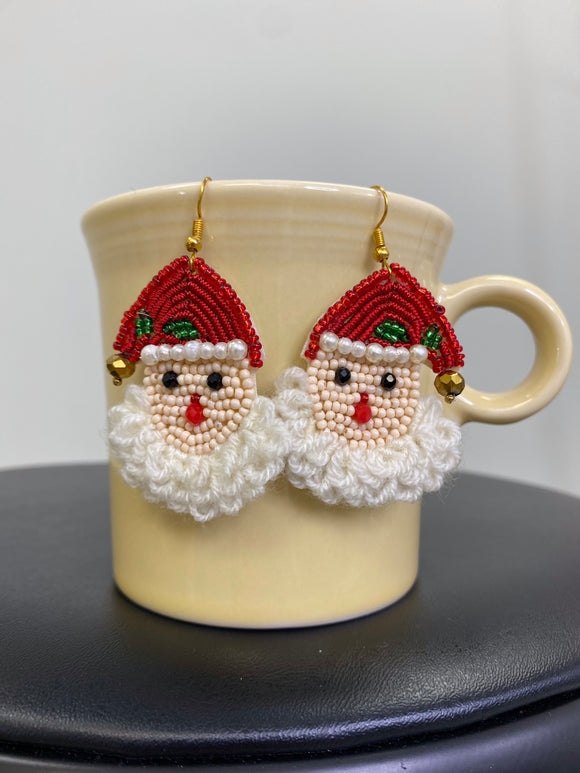 Santa Bead Earrings