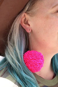 Pom Pom Earrings [3 Colors]