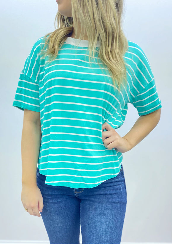 Surfside Seafoam Striped Top