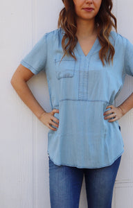 Archer City Chambray Tunic Top