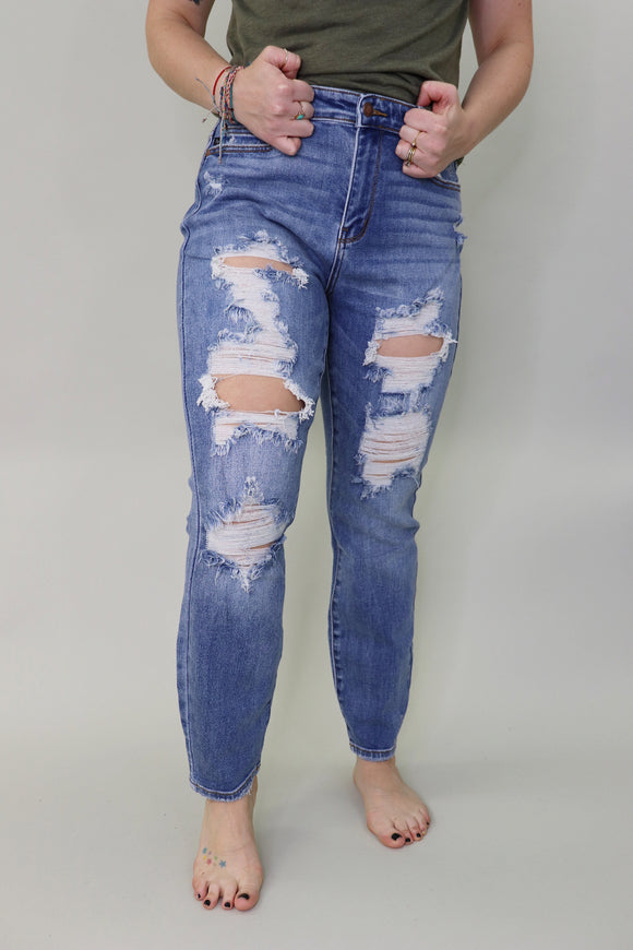 Donnie Destroyed Boyfriend Jeans