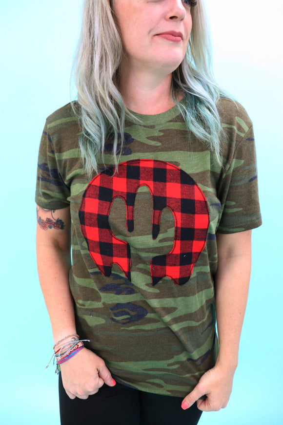 Buffalo Plaid Premium Camo Tee
