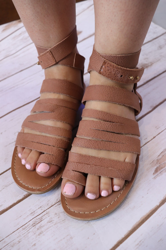 Tan Strappy Gladiator Sandal