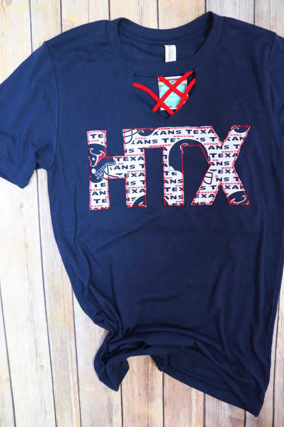 HTX Texans Key Hole Tee