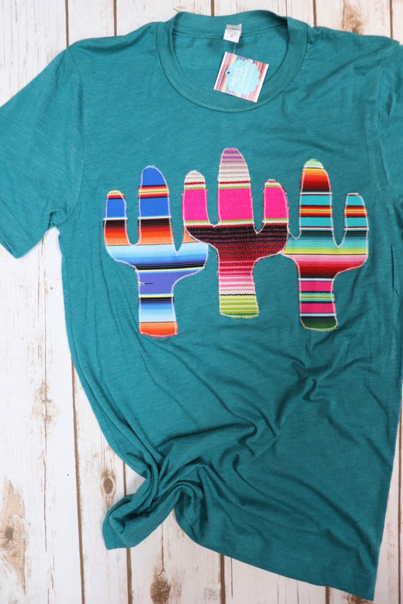 Three Cactus Serape Tee