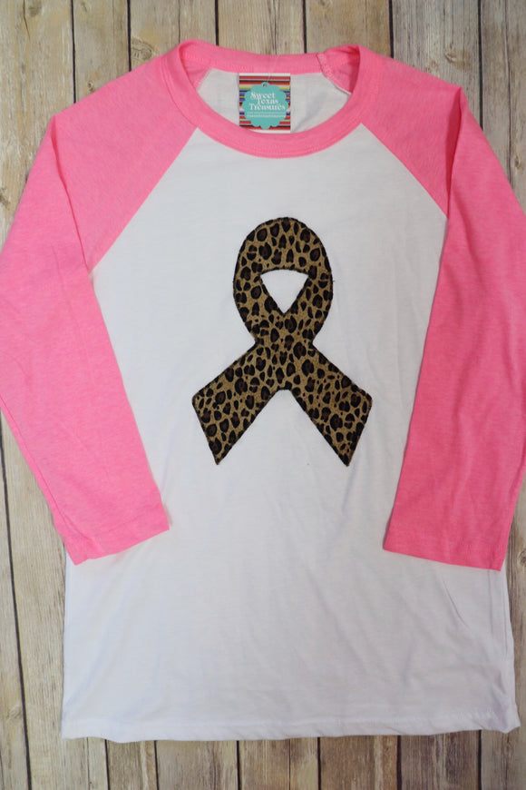 Breast Cancer Awareness Raglan Tee