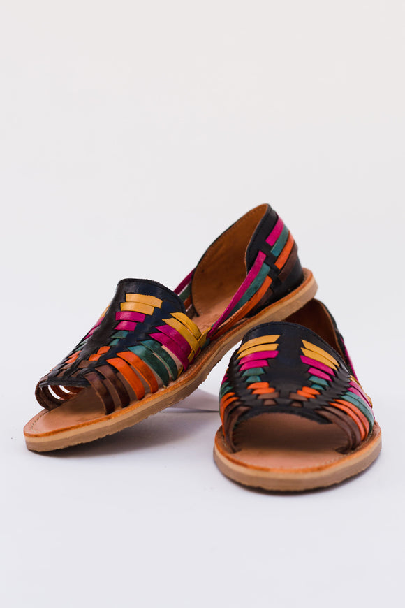 Last Call Multicolor Fiesta Leather Huarache Flats