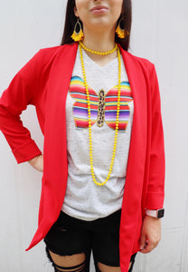 The Sweet Structured Blazer [Tomato Red]