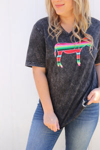 Agave Red Serape V-Neck Tee