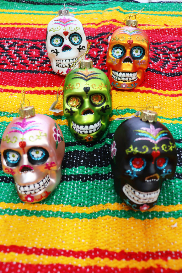Painted Sugar Skull Ornament [5 Colors]