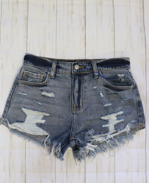 Hartley High Rise Distressed Shorts