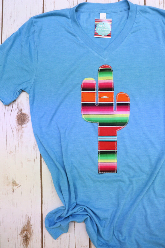 Agave Red Serape Crew Tee