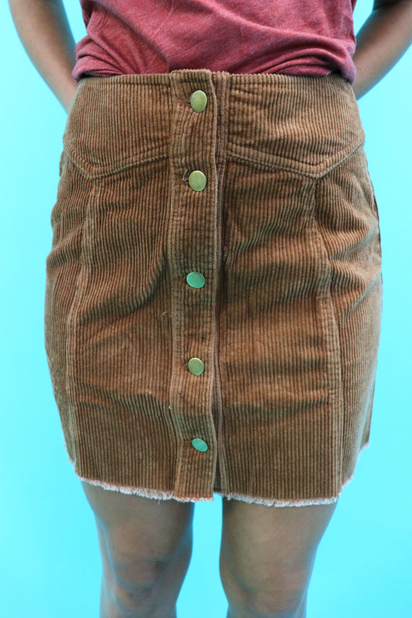 Coryell Corduroy Mini Skirt
