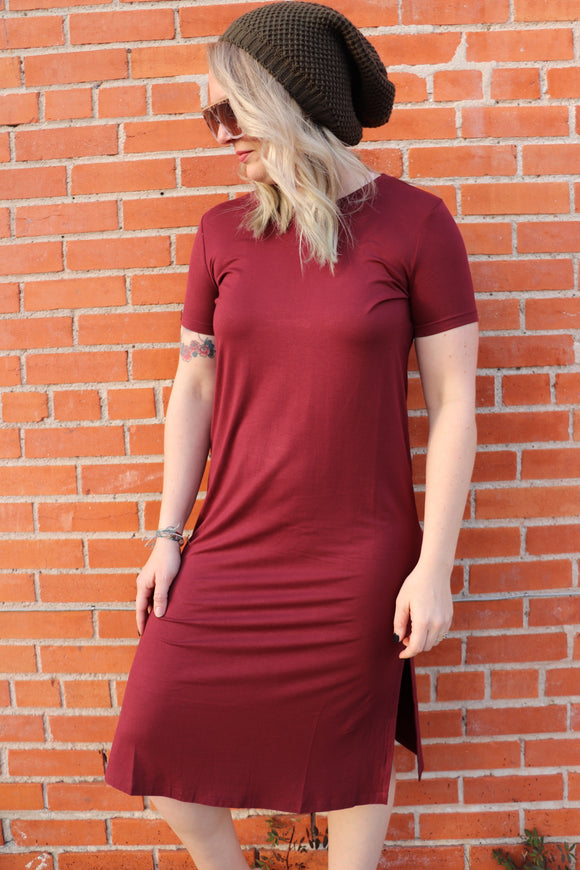 Downtown Diva Dress [Wine]