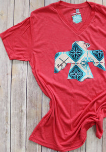 Headdress Turquoise V-Neck Tee