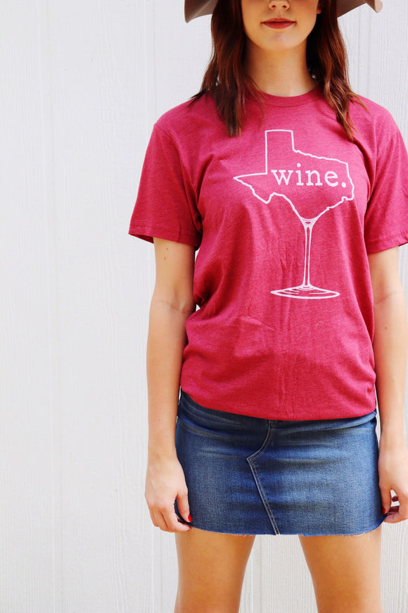 Last Call Texas Wine Tee