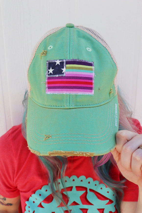 Piñata Purple Flag Trucker Hat [All Colors]
