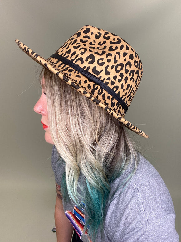 Fierce Leopard Fedora Hat