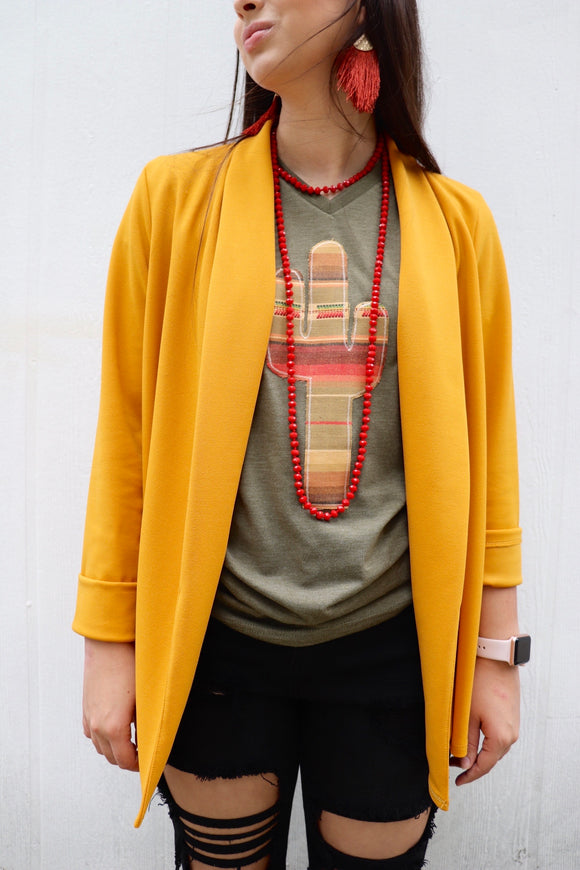 The Sweet Structured Blazer [Mustard]