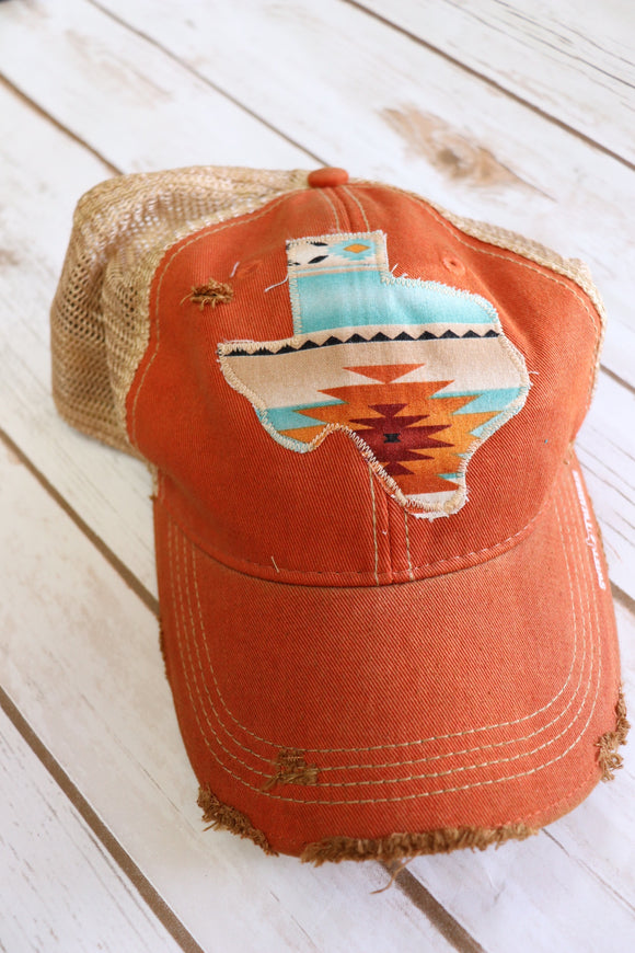 Sedona Turquoise Dirty Trucker Hat