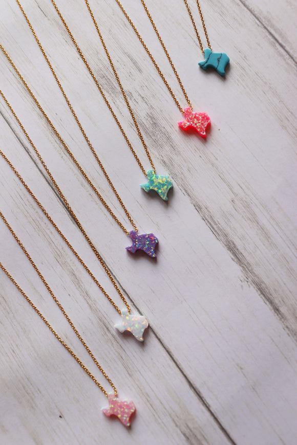 Opal Texas Necklace [5 Colors]