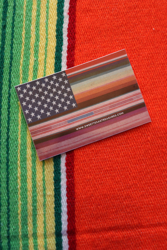 Salsa Serape Flag Sticker