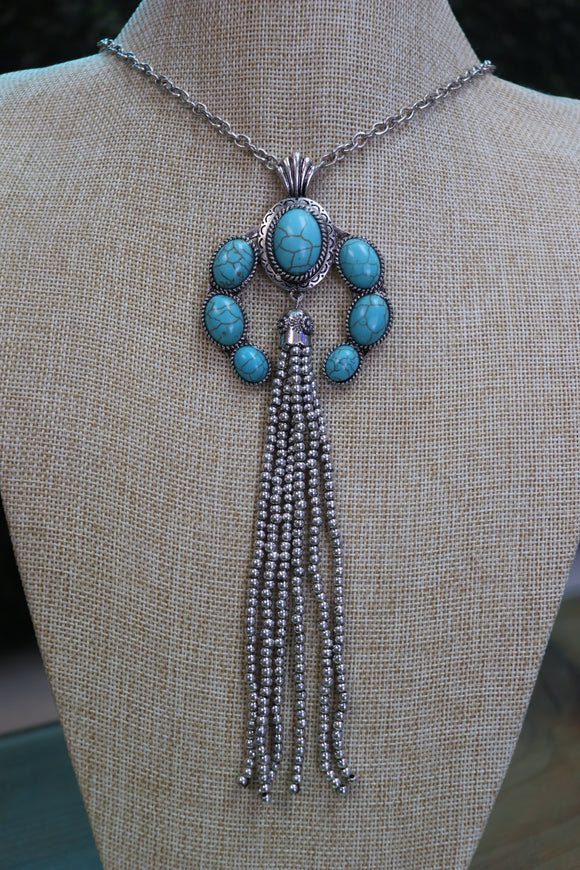 Last Call Mini Squash Blossom Tassel Necklace