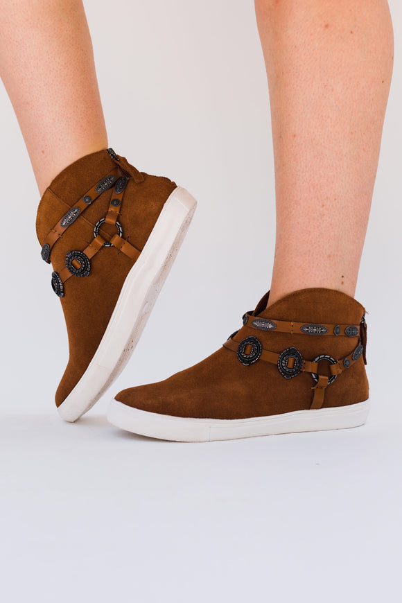 Cooper Concho Suede High-Top Sneakers