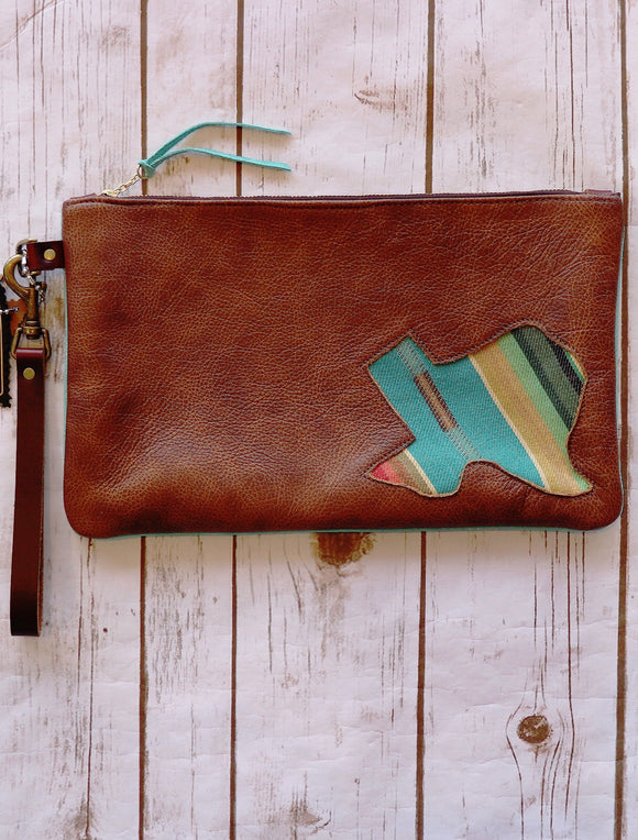Leather Olga Texas Wristlet