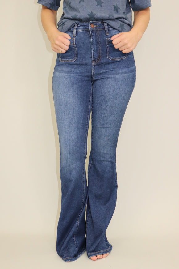 Preston Pocket Bell Bottom Jeans