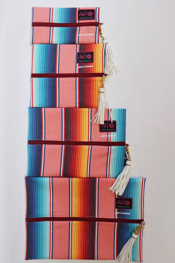 Corral Serape Makeup Junkie Bags [4 Sizes]