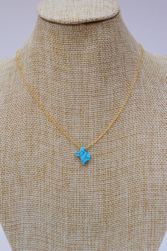 Texas Turquoise Slab Necklace
