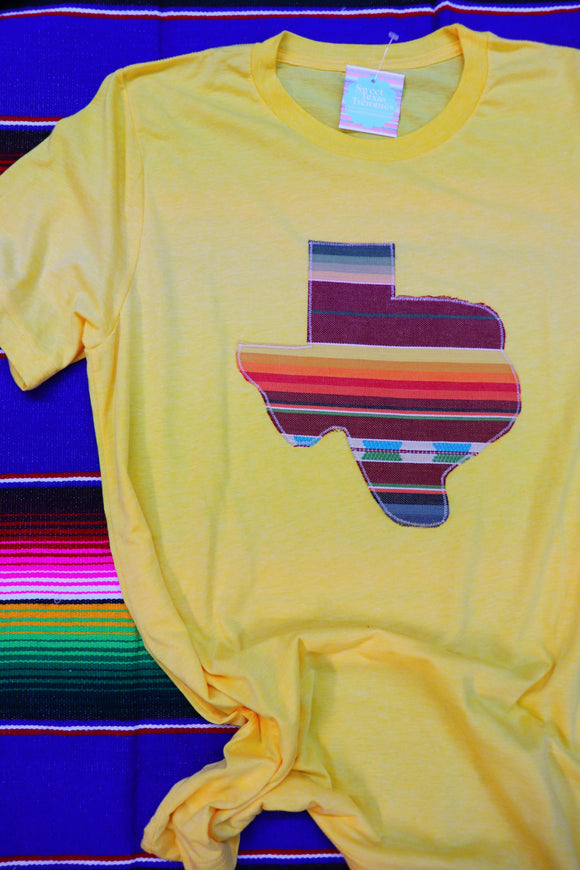 Sangria Serape Crew Neck Tee [Yellow Gold]