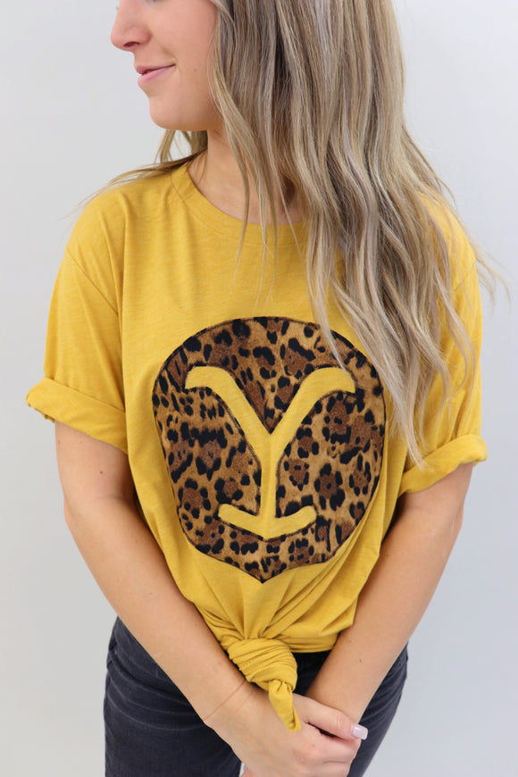 Big Cat Leopard Branded Tee