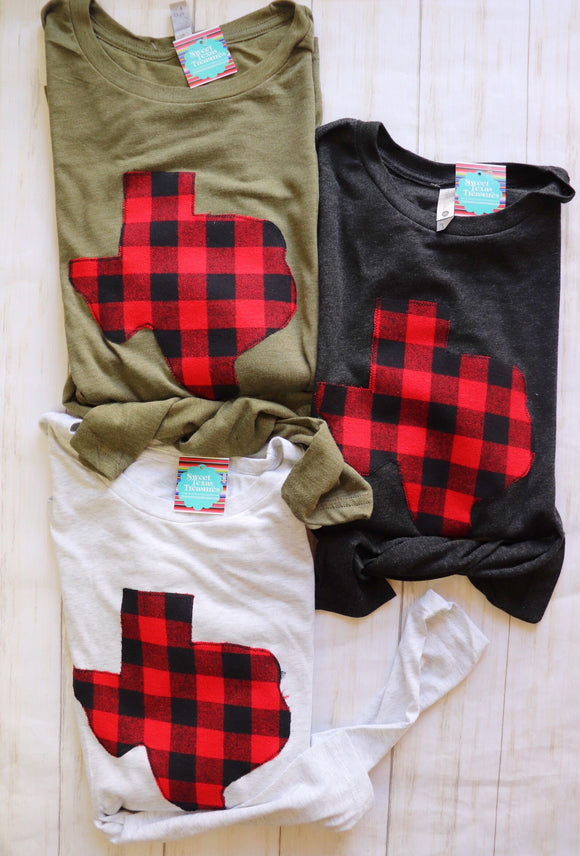 Buffalo Plaid Long Sleeve Tee