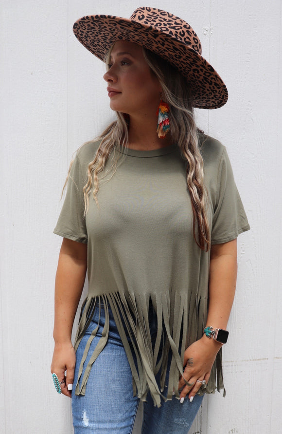 Fallin' For Fringe Top