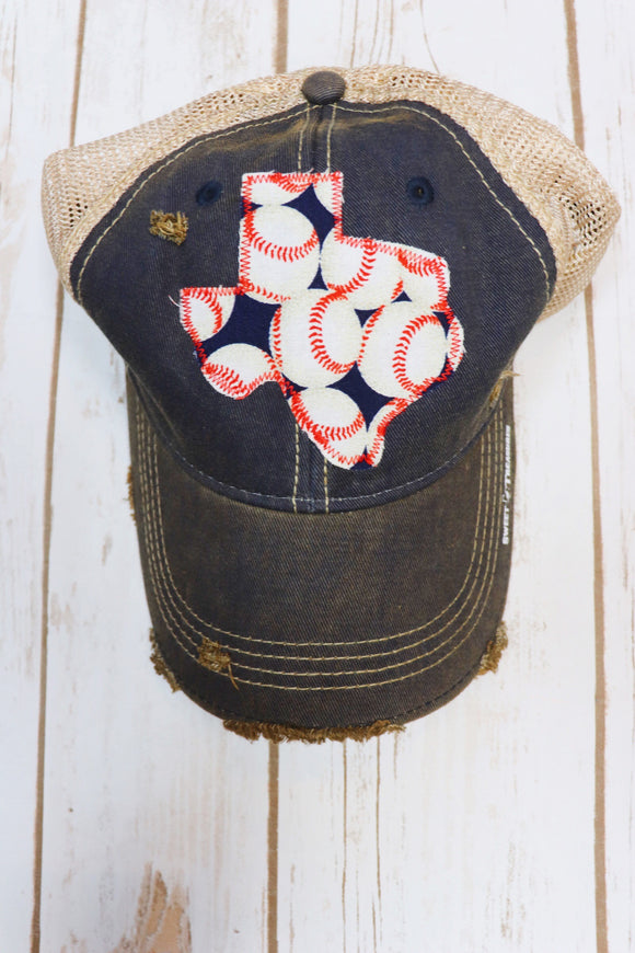 Baseball Custom Dirty Trucker Hat