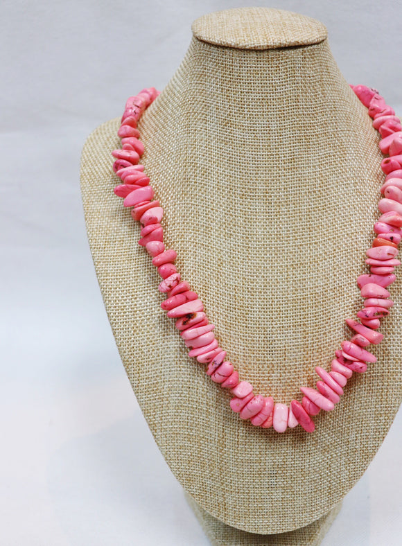 Pink Pebble Rock Necklace