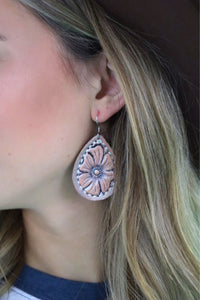 Last Call Lady Bird Leather Earrings