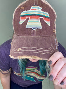 Navajo Serape Dirty Trucker Hat
