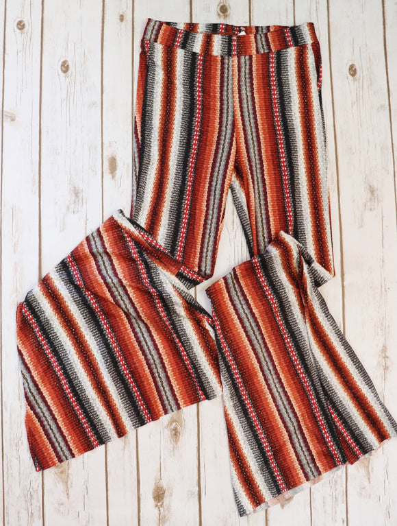Sunrise Stripe Bell Bottom Pants