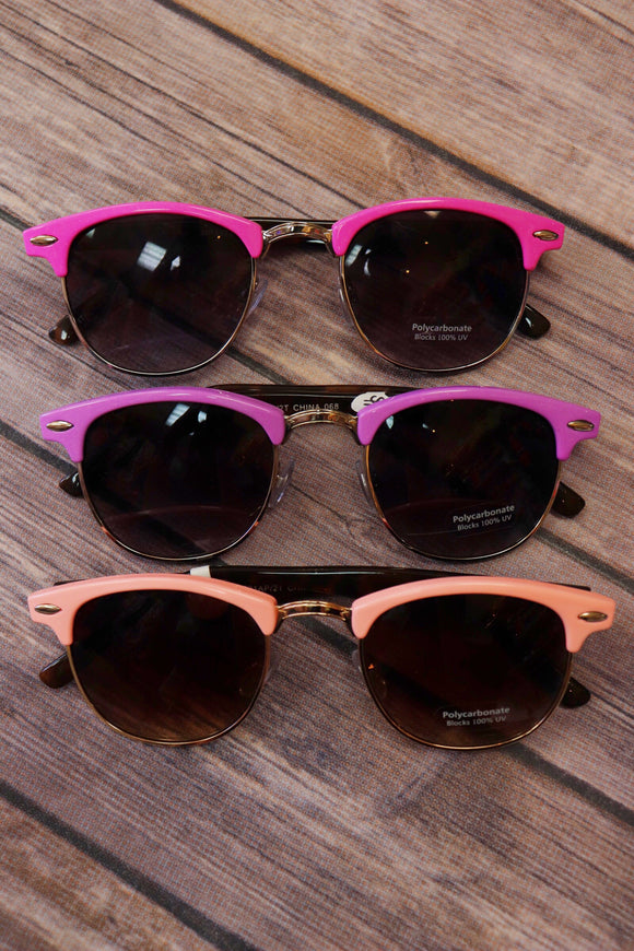 Color Block Clubmaster Sunglasses