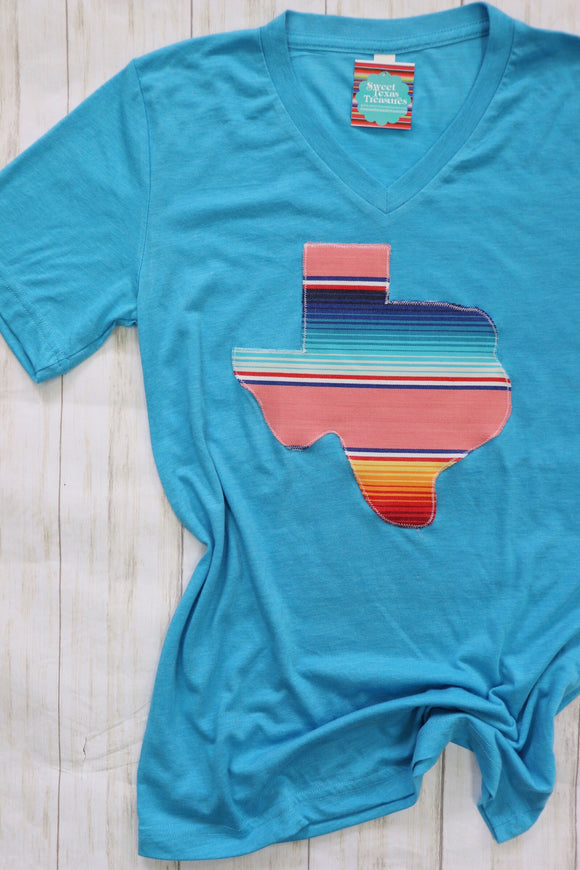 Corral Serape V- Neck Tees
