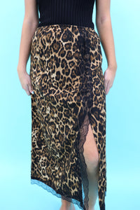 Last Call Laura Leopard Lace Skirt
