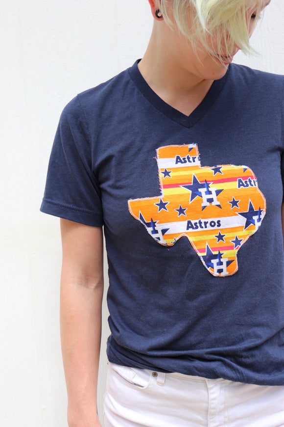 Throwback Astros V-Neck Tee