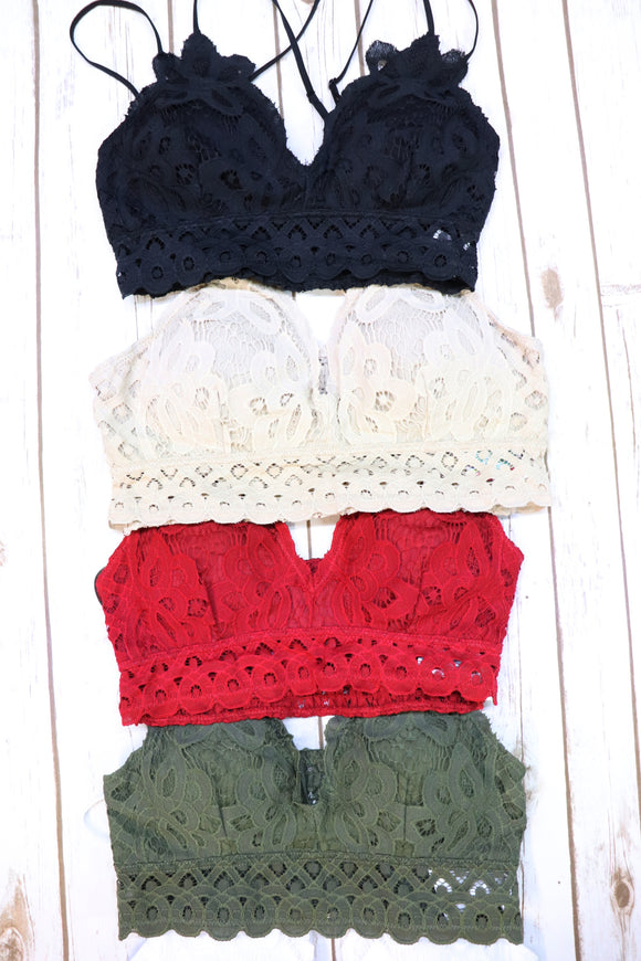 The Sweet Lace Bralette [11 Colors]