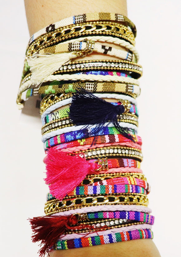 Serape Multi-Strap Magnetic Bracelet [4 Colors]