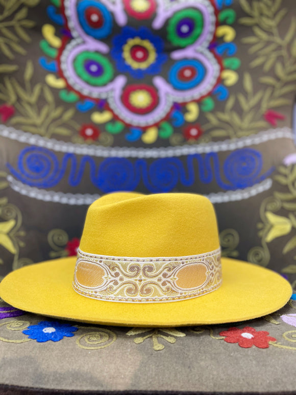 Wild West Jacquard Wool Hat [Mustard]