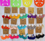 Fiesta Threaded Fringe Earrings [All Colors]